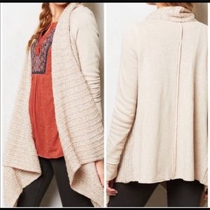 Anthropologie Casada Sweater Cardigan Medium Tan